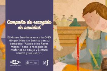 El Museo Sorolla comienza su campaña solidaria de recogida de material de dibujo y pintura
