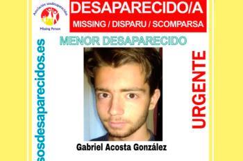 Gabriel, de 16 años, lleva desaparecido desde el pasado 20 de agosto