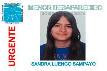 Desde el 1 de Octubre lleva desaparecida Sandra de 17 años