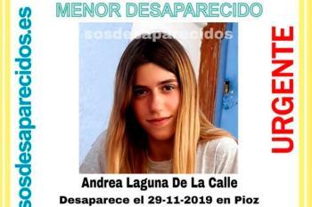 Andrea, de 15 años de edad, desapareció el pasado 29 de noviembre en Pioz, Guadalajara