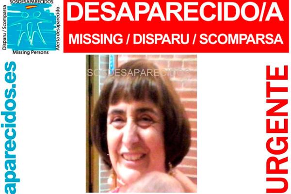 Pilar Garvi Hidalgo, vecina de Madrid, desapareció ayer 30/01