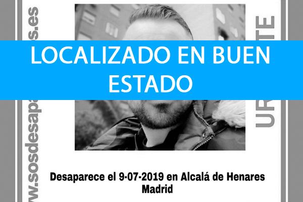 Javier Tortosa desapareció el 9 de julio en Alcalá de Henares, Madrid