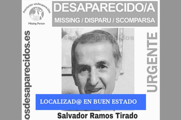 Salvador Ramos de 70 años de edad, desaparece en el día de hoy, 3 de octubre de 2019, en Villaverde Alto