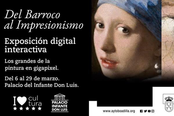 Boadilla ofrece visitar la exposición 'Del Barroco al Impresionismo' desde nuestro sofá
