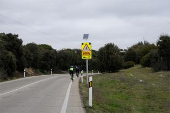 Las señales avisarán a los vehículos de la presencia de ciclistas en la carretera