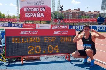 La competición celebrada en el Polideportivo Juan de la Cierva vivió un nuevo récord nacional del atleta