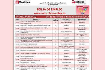 Móstoles Desarrollo ha publicado su listado de empleo con casi 40 vacantes disponibles
