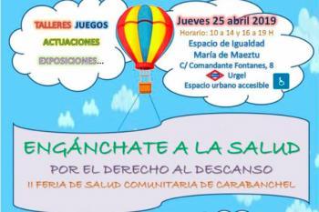 La cita tendrá lugar el próximo 25 de abril en el Espacio de Igualdad María de Maeztu