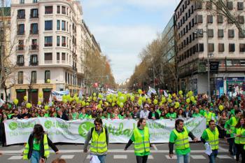 En la manifestación participaron políticos del Partido Popular y Vox