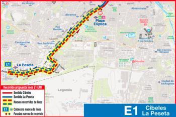 La Línea E1 modifica su nombre y estrena ampliación a partir del martes 7 de mayo