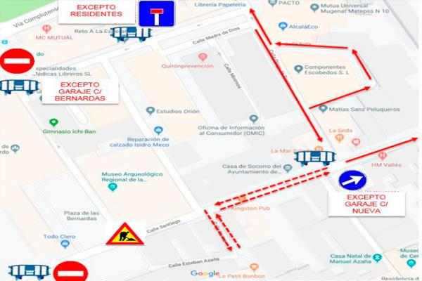 Comienzan las obras de la calle Santiago con la Calle San Bernardo