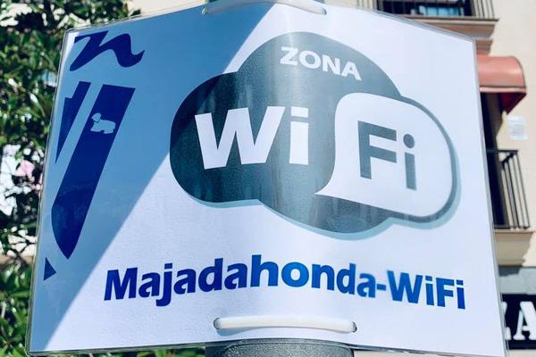 El Ayuntamiento de Majadahonda ha puesto WiFi gratis en esta zona