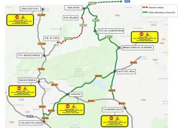 La DGT ha propuesto itinerarios alternativos