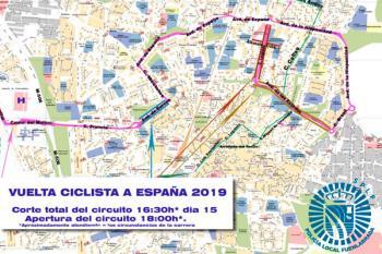 El motivo es la salida de la etapa de La Vuelta Ciclista a España 2019