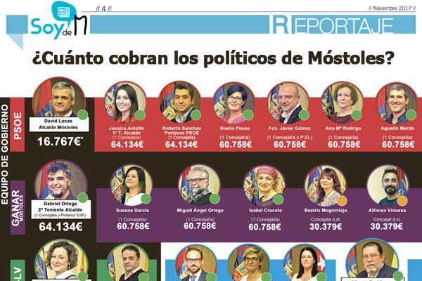 ¿Cuánto cobran los políticos de Móstoles?