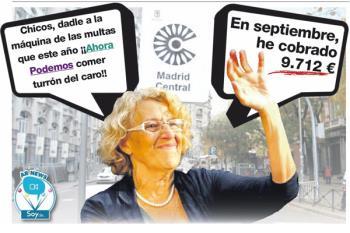 Manuela Carmena la mejor pagada de España