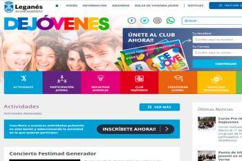 El Ayuntamiento de Leganés ha lanzado la web www.dejovenesleganes.es