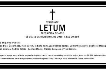 La exposición LETUM se inaugurará este miércoles en el espacio EST_ART de Alcobendas