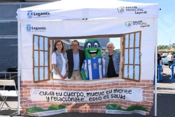 La fiesta dedicada a los jóvenes aficionados y aficionadas del CD Leganés bate récords