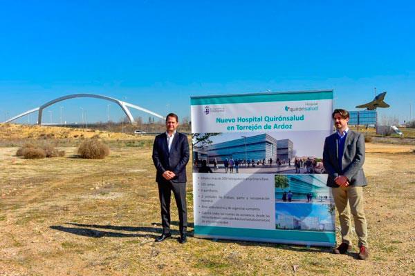 El Ayuntamiento de Torrejón concede terrenos públicos para la construcción de un hospital privado