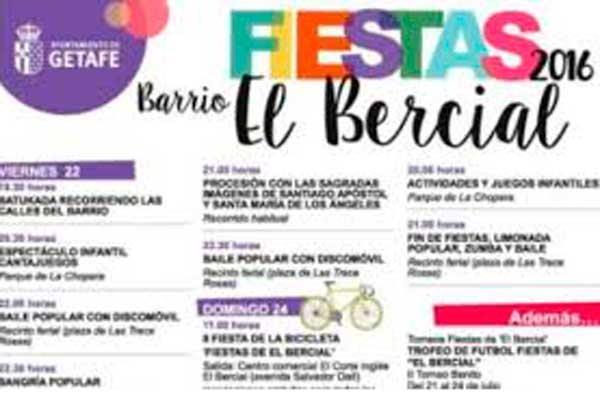 El Bercial celebrará sus fiestas del 19 al 23 de julio