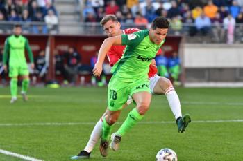 Los pepineros vencieron al Real Murcia con sendos dobletes de Braithwaite y Carrillo