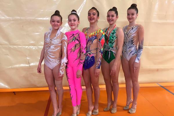 La gimnasia rítmica mostoleña, presente en el Nacional Base Individual