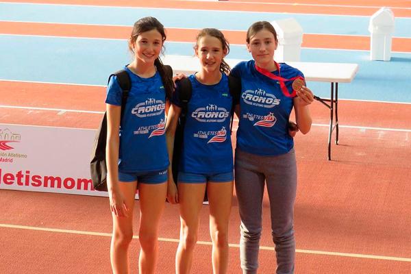 La atleta del Cronos Atletismo de Villa compitió en las Pruebas Combinadas Sub-14