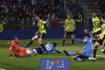 El Fuenla se coloca en 2ª posición tras ganar al Zaragoza con goles de Hugo Fraile e Iván Salvador, y acumula 23 partidos sin perder en casa