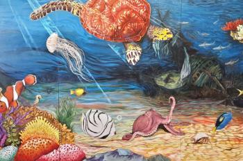 Varios usuarios de la Fundación Esfera han participado en los trabajos del mural