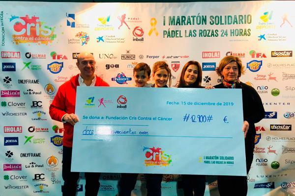El I Maratón Solidario de Pádel de Las Rozas recauda 13.000 euros para la lucha contra el cáncer infantil
