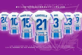 Los futbolistas del Club Deportivo Leganés saltarán al campo con el nombre de sus madres en la camiseta