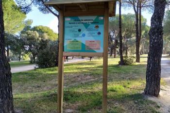 El Patronato del Monte del Pilar ha actualizado la señalización para ayudar a los visitantes a interpretar el entorno