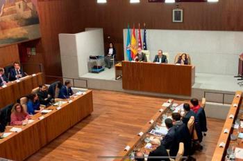 El alcalde, Santiago Llorente, dio por concluida la sesión tras los gritos de los asistentes