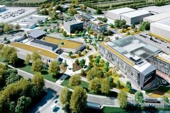 El complejo contará con cinco edificios conectados por accesos peatonales