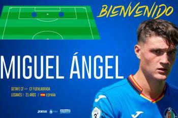 El Getafe ha hecho oficial la cesión de Miguel Ángel al Fuenlabrada durante una temporada