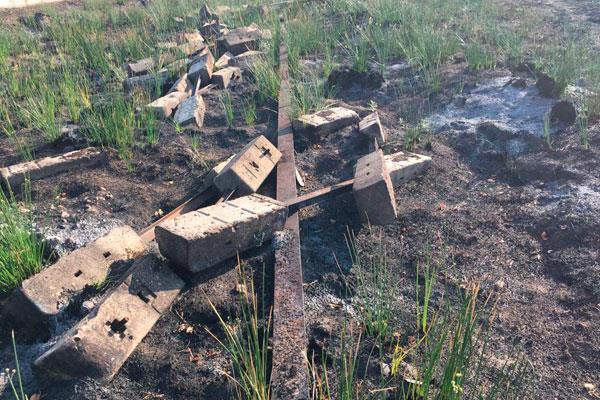 El incendio del Humedal revela resquicios de amianto