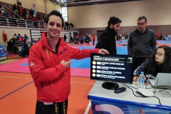 El deportista demostró su gran nivel actual en la competición de taekwondo