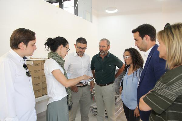 El alcalde de Alcobendas ha visitado las obras de las calles Huertas y Paz y se ha interesado por las de este espacio