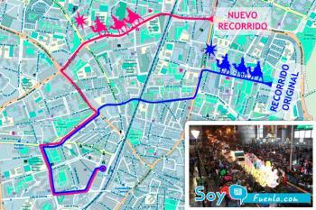 El cambio de recorrido de la Cabalgata de Reyes ha sido una de las novedades más destacadas en la Navidad de los fuenlabreños