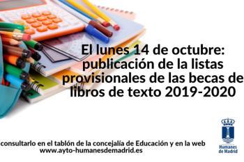 Las familias podrán consultar la lista a través de la web o en el tablón de anuncios de la concejalía de Educación