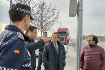En total, 11 cámaras de reconocimiento de caracteres controlan el tráfico y la seguridad en esta zona empresarial