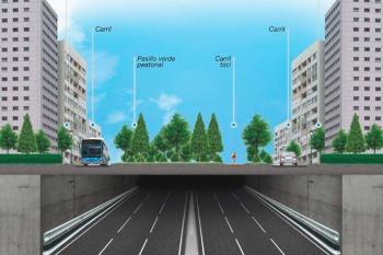 Además, no será necesaria una tuneladora y la vía contará con tres carriles por sentido