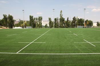 Las obras de remodelación del campo de rugby Las Terrazas suponen una inversión de 782.000 euros y finalizarán en dos semanas