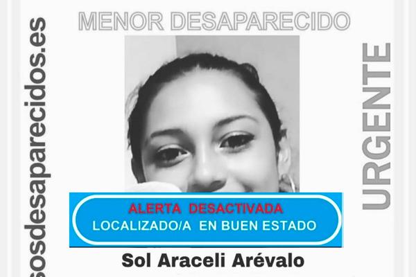 SOS Desaparecidos desactiva la alerta de la menor de 16 años que desapareció el 24 de mayo
