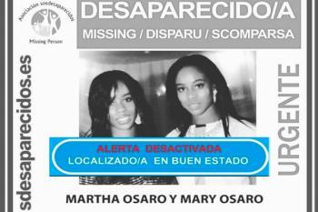Finalmente, las gemelas Osaro desaparecidas el pasado jueves han sido encontradas en buen estado
