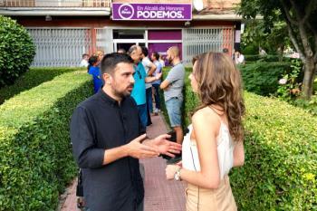 Espinar nos presentó el proyecto de Podemos para la región durante su visita a Alcalá de Henares