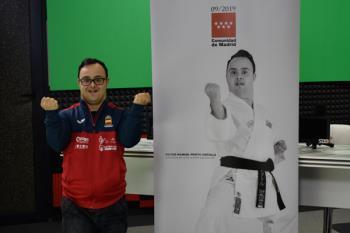 El fuenlabreño se ha convertido en uno de los mejores para-karatecas del mundo