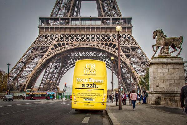 La campaña se está difundiendo en nueve ciudades españolas y a nivel Internacional, en Francia, Italia, Reino Unido, Alemania y Portugal