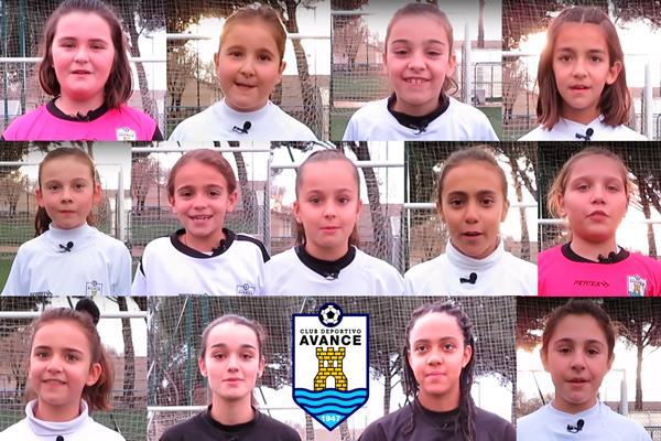 Estas pequeñas futbolistas de Alcalá piden respeto y deportividad a sus rivales con este vídeo